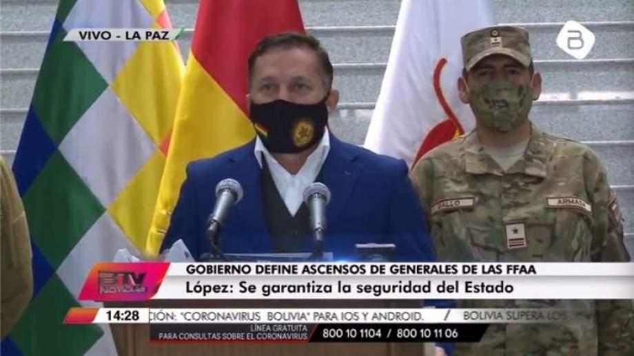 López hizo el anuncio hoy en conferencia de prensa. Foto: gentileza.-