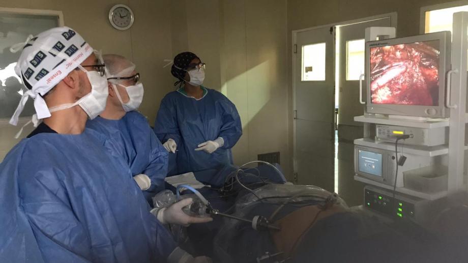 La cirugía se llevó a cabo en el Hospital Privado Regional. Foto: gentileza