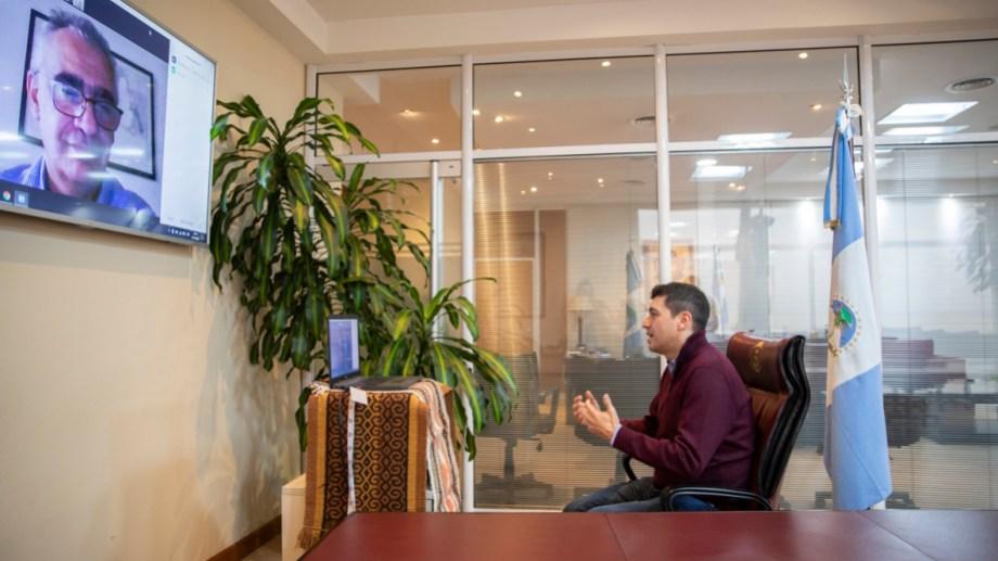 El acuerdo se suscribió con firma digital mediante una reunión virtual, a través de una plataforma de videoconferencia. (Prensa Legislatura de Neuquén)
