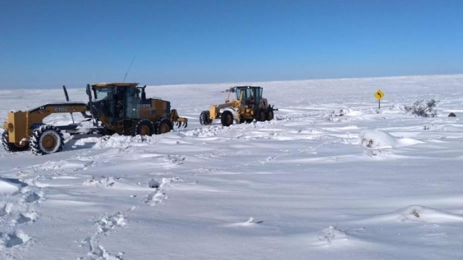 En gran parte de la Región Sur la nieve acumulada supera los 60 cm. (Foto: Gentileza)