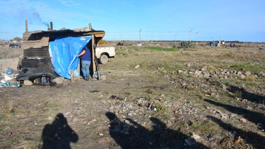 Asentamiento Defensores de Lavalle, formado el 5 de este mes. Foto: Marcelo Ochoa.