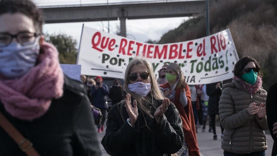 La convocatoria se realizó sobre la costanera maragata.  Fotos: Pablo Leguizamón.