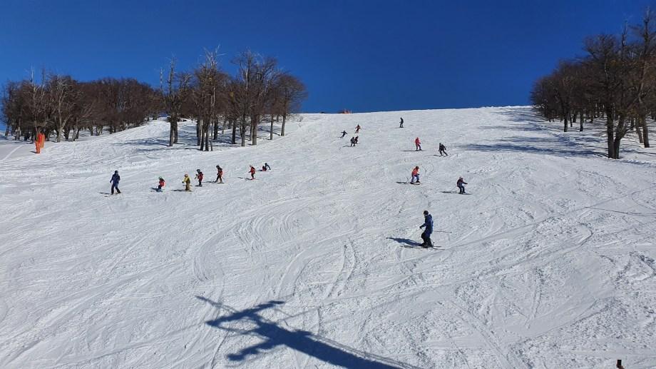 Cerro Bayo presenta excepcionales condiciones de nieve.