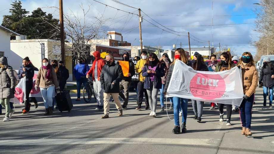 Hubo movilización en Cutral Co y Plaza Huincul. (Foto: Andrea Vázquez)