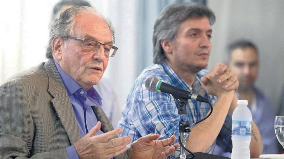 Carlos Heller y Máximo Kirchner fueron los impulsores de la iniciativa. Foto: Archivo