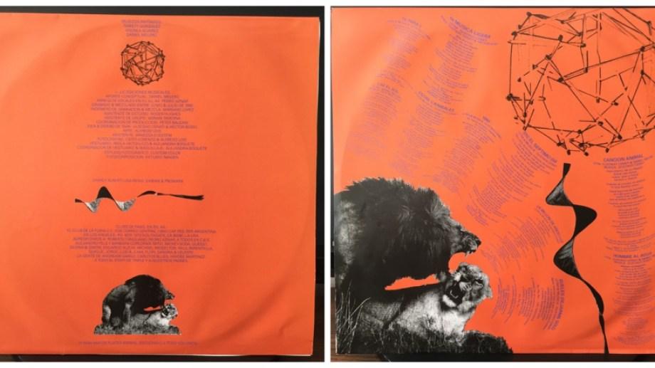 """Sobre interno del original de """"Canción animal"""" de Soda Stereo."""