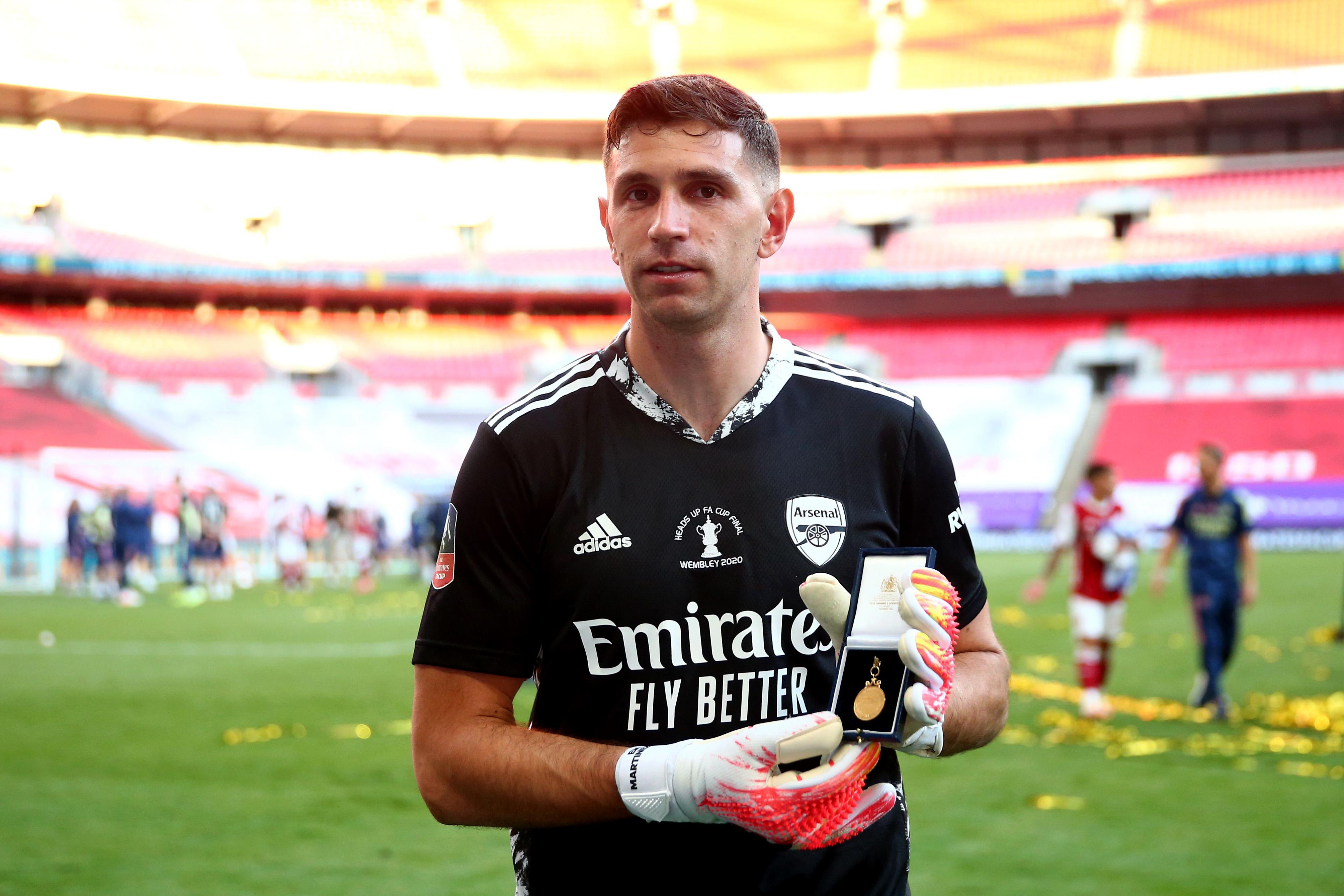 La emoción de Emiliano Martínez, el arquero argentino del Arsenal