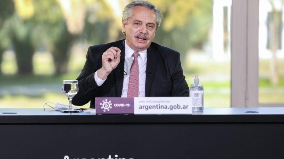 Fernández emitiría el mensaje desde la Quinta de Olivos. Foto: presidencia de la Nación.-