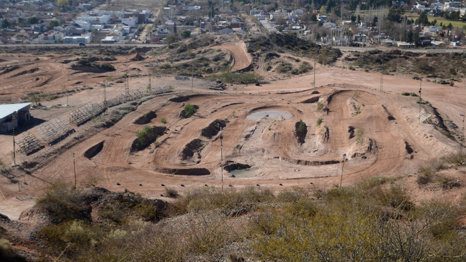Vista aérea de la pista de motocross (foto Juan ThomesI