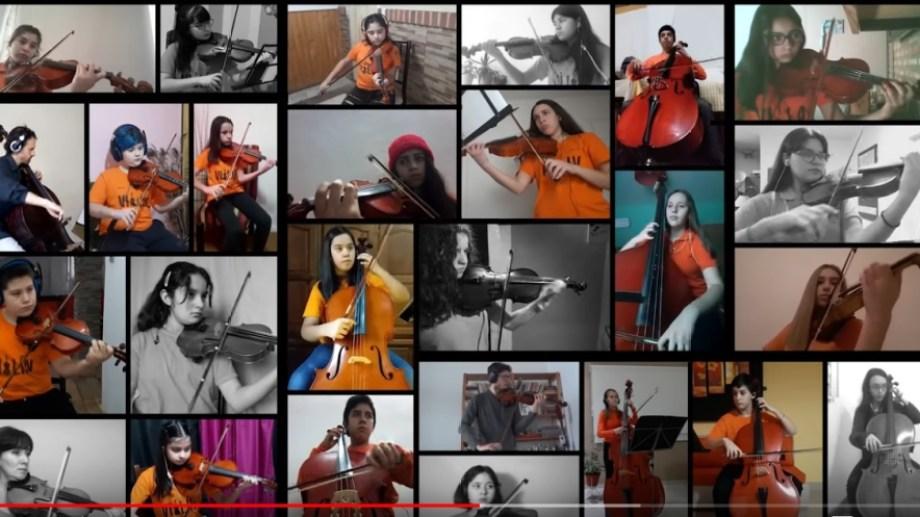 Orquesta de los Chicos de Cutral Co hizo el concierto de invierno