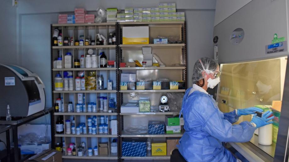 El grueso de los diagnósticos se realizan en el Laboratorio Central. Foto archivo.