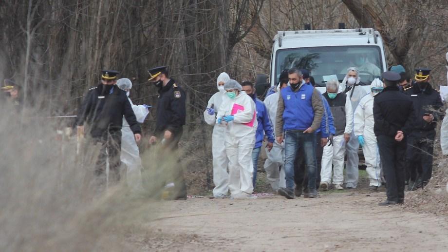 El lugar donde fue hallado el cuerpo de Marta Toledo Foto: Oscar Livera