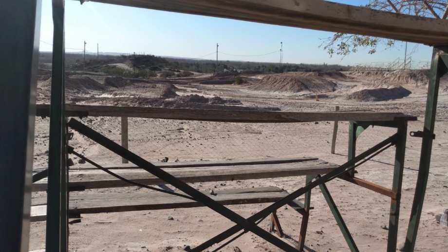 La pista de Motocross en la zona de reserva natural, una polémica que se renueva (foto Yamil Regules)