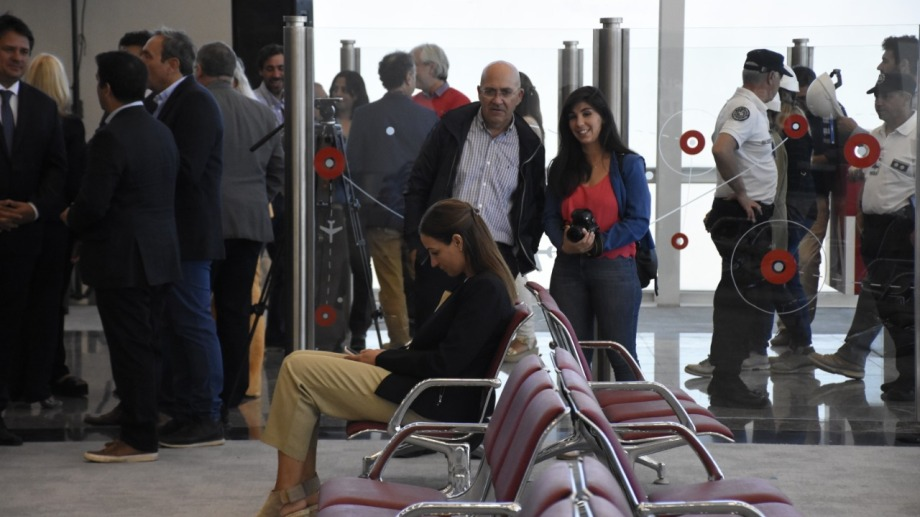 María Luisa Cuesta durante la inauguración de las obras en el aeropuerto local, el año pasado. Foto: archivo Florencia Salto.
