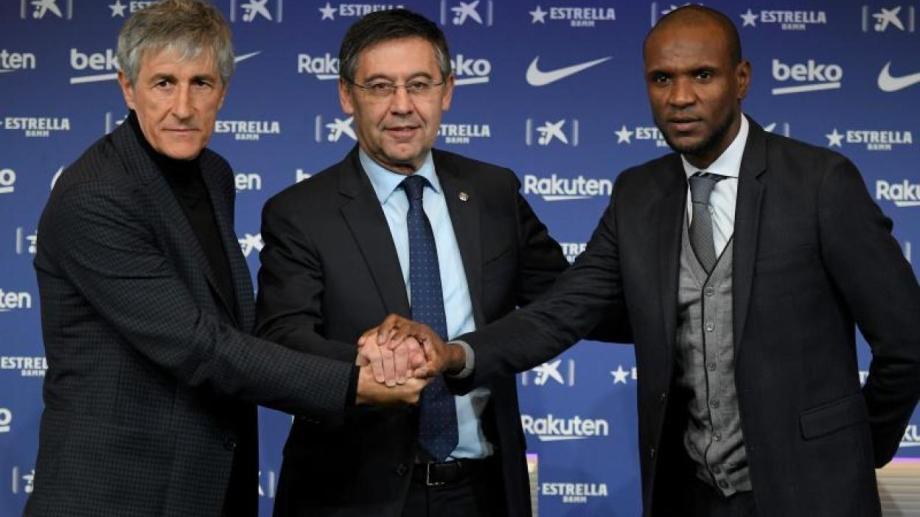 El presidente Bartomeu ya echó al DT, Setién, y al secretario técnico, Abidal.