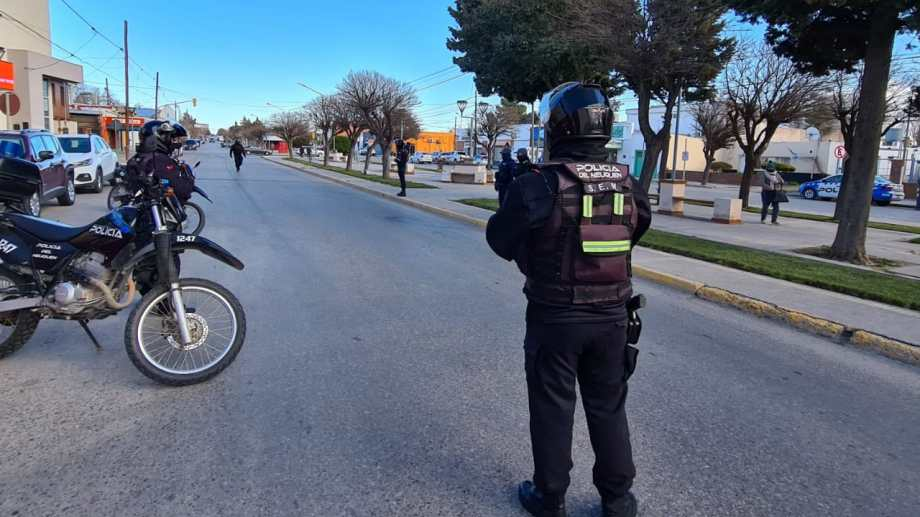 Los controles policiales en Cutral Co.