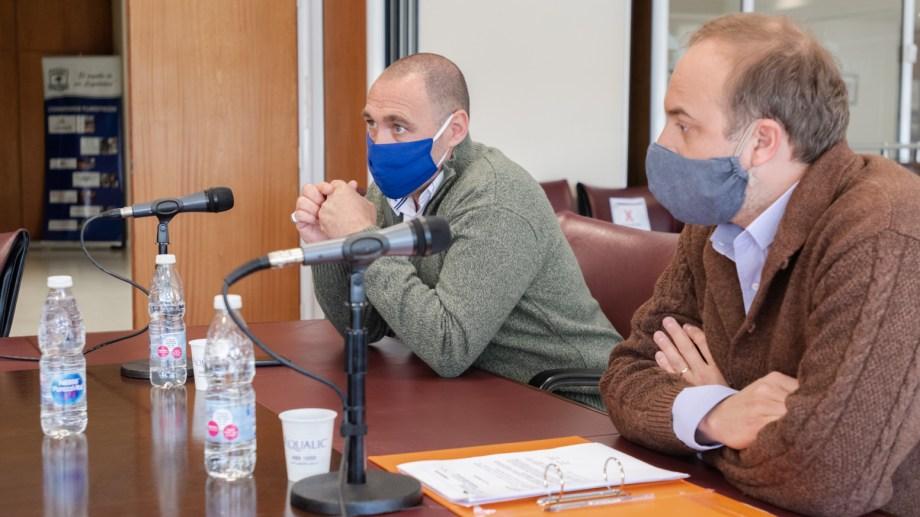 El diputado Darío Peralta (izquierda) informó sobre su situación de salud a través de las redes sociales. (Prensa Legislatura)