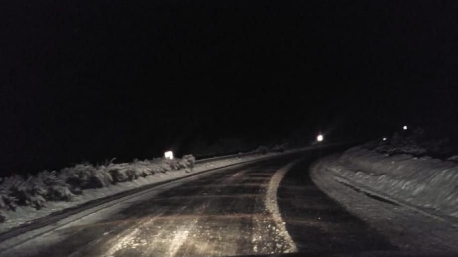 Hay sectores con hielo en las zonas altas de la ruta nacional 40. Foto: gentileza