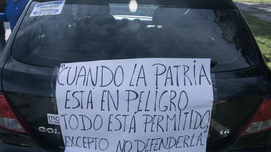 En un nuevo aniversario del fallecimiento de San Martín, invocaron una frase del Libertador. Foto: Pablo Leguizamón.