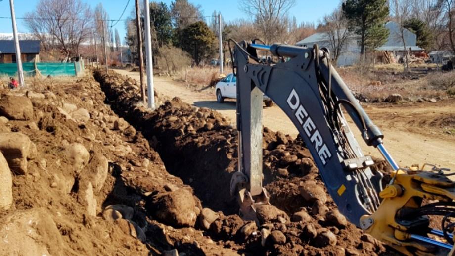 Comenzó la obra de gas en Aluminé. Foto: Prensa de Gobierno.