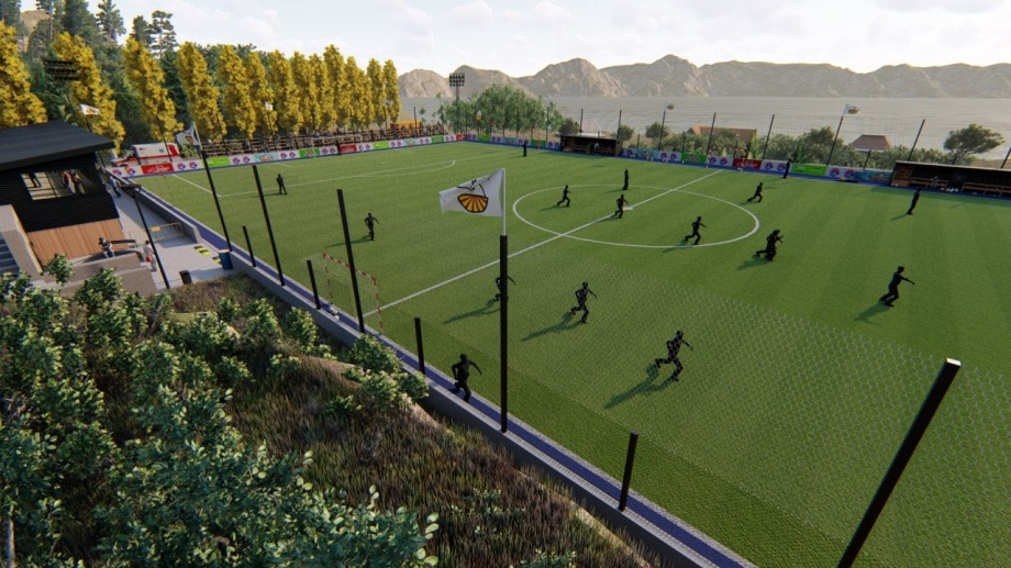 El objetivo de la dirigencia del club es tener habilitada la cancha a finales de este año, para jugar el torneo local de la Lifuba. Foto: gentileza