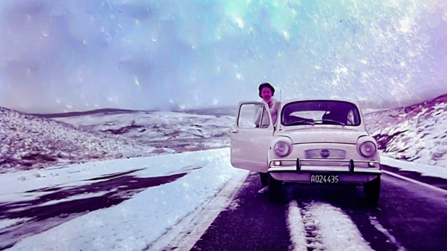 Un alto en el camino y una foto para el recuerdo saliendo de Bariloche de regreso a Salta en el Fiat 600. Susana es de Comodoro Rivadavía (Chubut) y Carlos de Lomas de Zamora (Buenos Aires). Viven en Chajarí (Entre Ríos).
