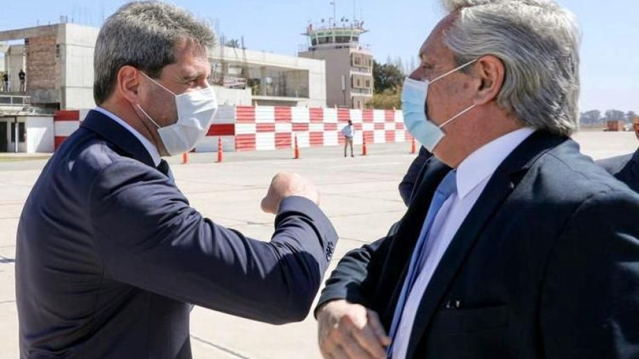 El presidente Alberto Fernández arribó hoy a San Juan. Foto: Presidencia.-