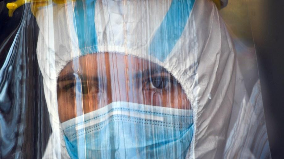 Los trabajadores de la sanidad de Buenos Aires. Foto: Carlos Brigo Télam