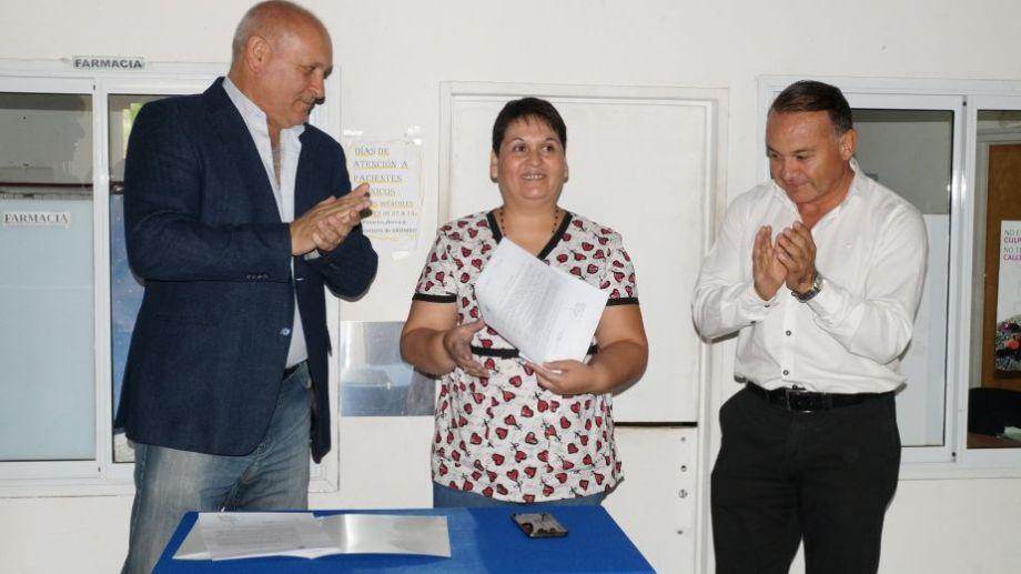 Cerda había asumido la jefatura en febrero pasado, junto al ministro Zgaib y al intendente Rivero. Foto: gentileza Municipio de Campo Grande.-