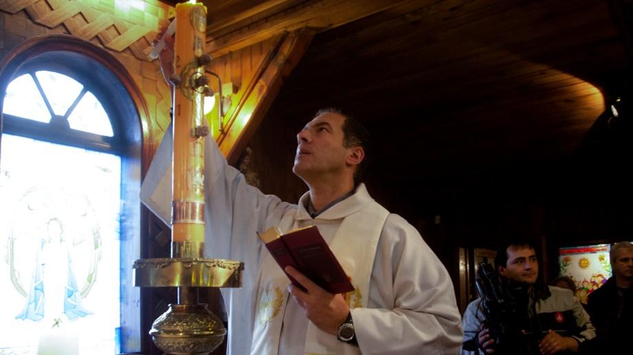 Jorge Pliauzer es párroco de la capilla Inmaculada Concepción. Foto: Marcelo Martínez