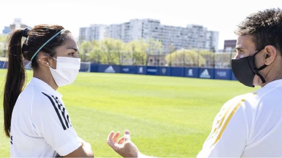 La barilochense ya entrena con Boca de cara a la próxima temporada.