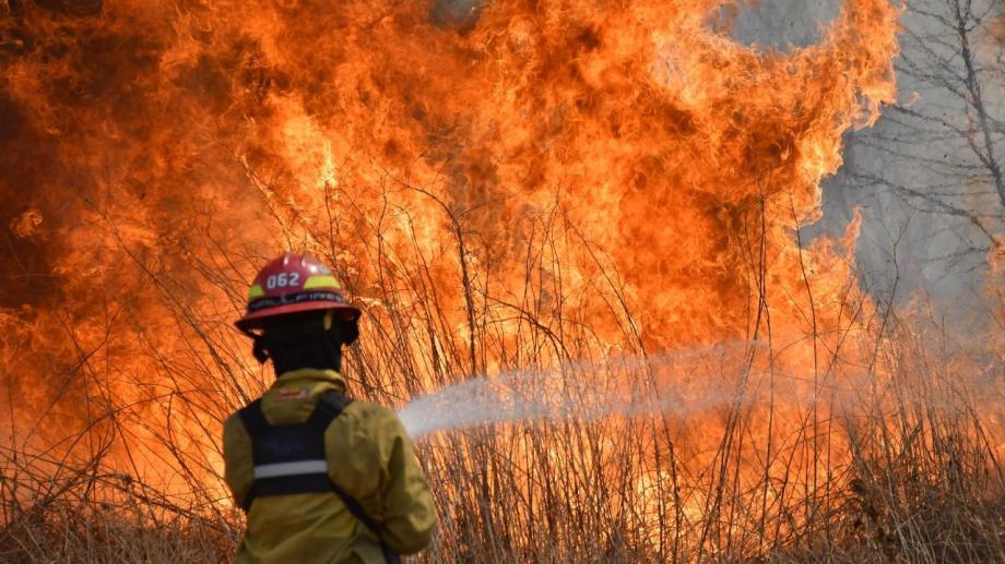 En la mitad de las provincias del país se registran incendios forestales. (Gentileza).-