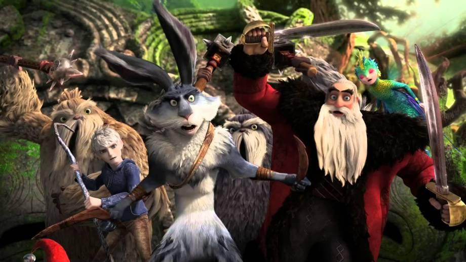 """Los Papá Noel y su grupo de héroes luchan por los sueños de los niños en """"El origen de los guardianes""""."""