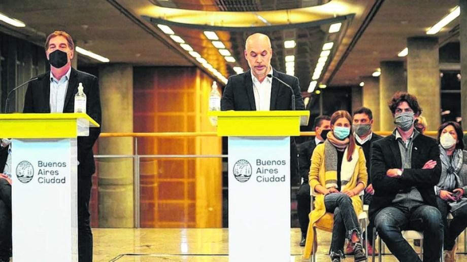 Horacio Rodríguez Larreta, jefe de Gobierno de la Ciudad de Buenos Aires, presentó el reclamo ante la Corte por la coparticipación. (Gentileza Clarín).-