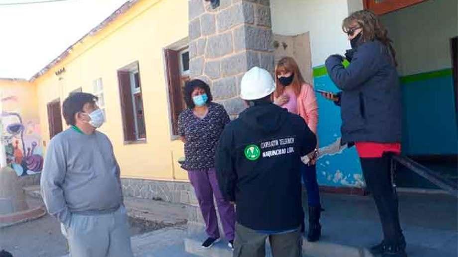 """En el hospital """"Dr. Orencio Callejas"""" se realizó la primera """"bajada"""" de fibra óptica. (Foto: Gentileza)"""