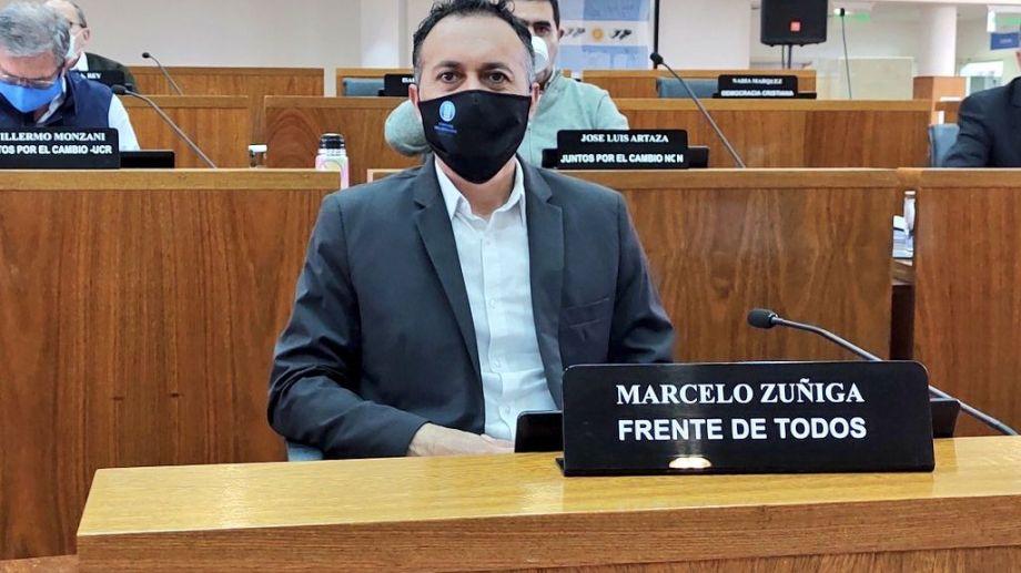 Marcelo Zúñiga es concejal del Frente de Todos (Prensa del Concejo Deliberante)