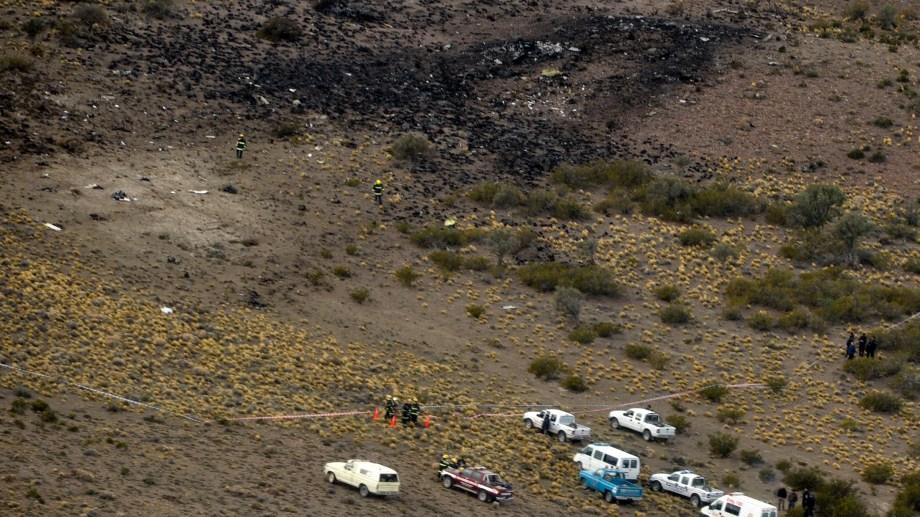 El avión Saab desintegrado en medio de la nada. Murieron 22 personas. Foto: archivo