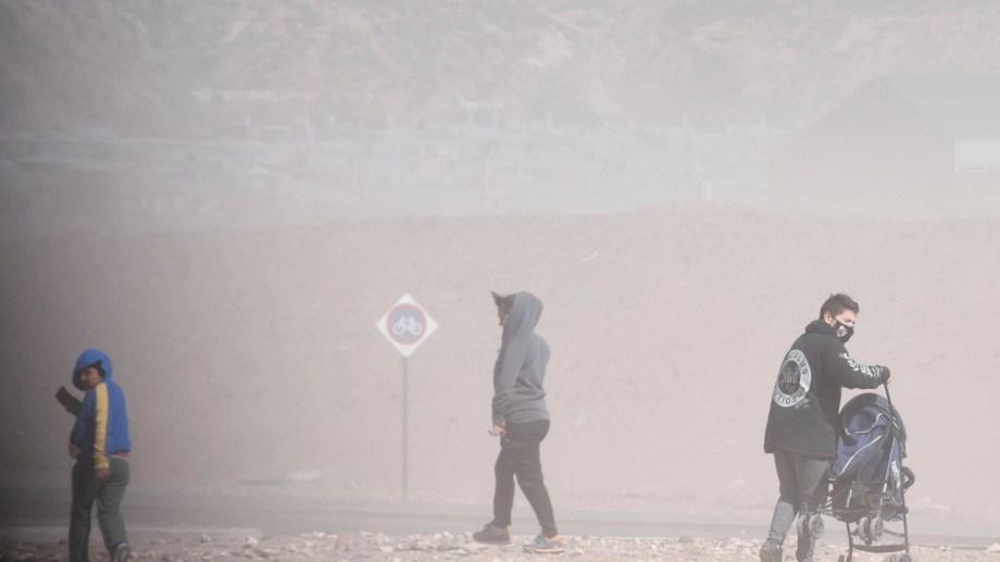 Las ráfagas alcanzaron los 130 kilómetros por hora en el interior de la provincia de Neuquén. (Foto archivo: Florencia Salto).