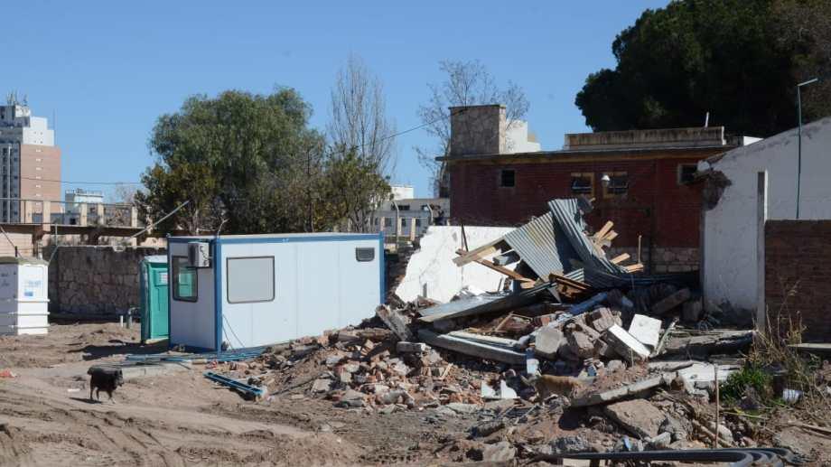 La vivienda que fue demolida en la ex U9.  Foto: Yamil Regules
