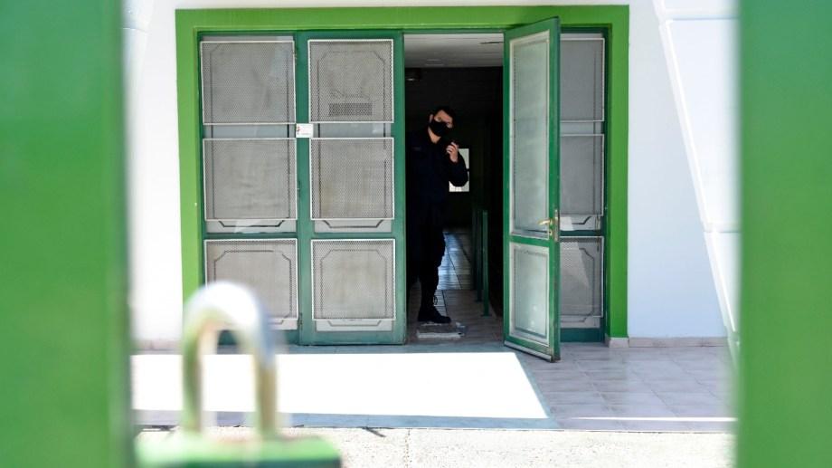 La sala de audiencias en Avenida Argentina al 1500 (foto Florencia Salto)