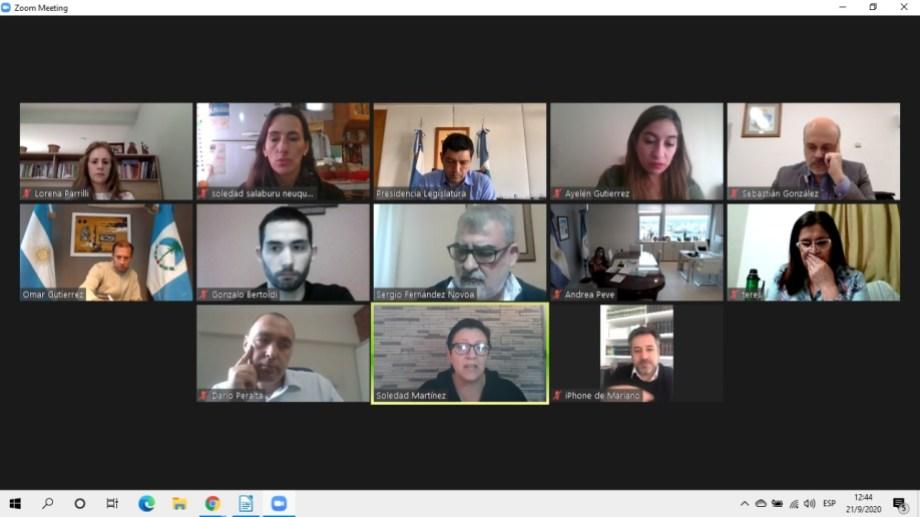 La reunión con el Frente de Todos se realizó por videollamada este mediodía. Foto: gentileza.