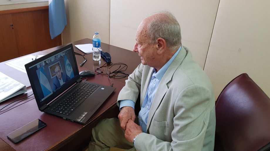 César Gass fue uno de los seis integrantes de Juntos por el Cambio que participaron de la reunión virtual. Foto: gentileza.