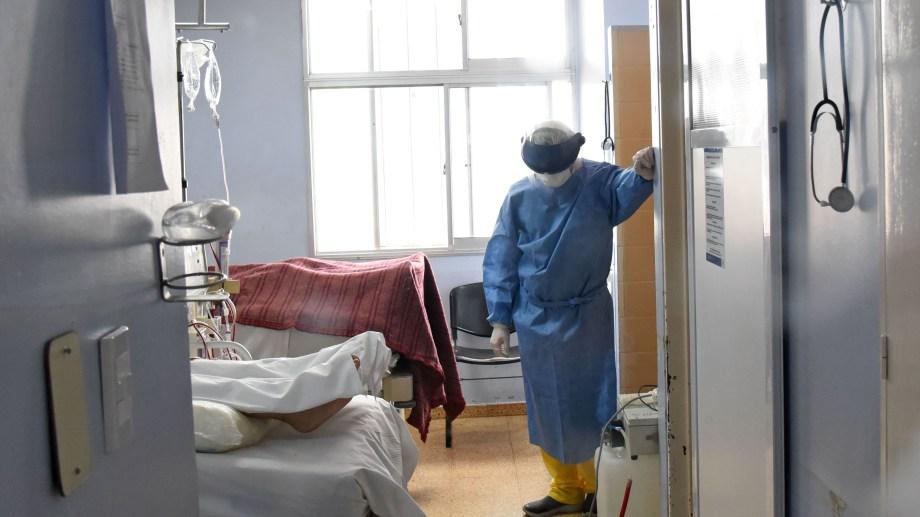 El 99% de las camas de terapia intensiva de la provincia está ocupada. Foto:  Florencia Salto.