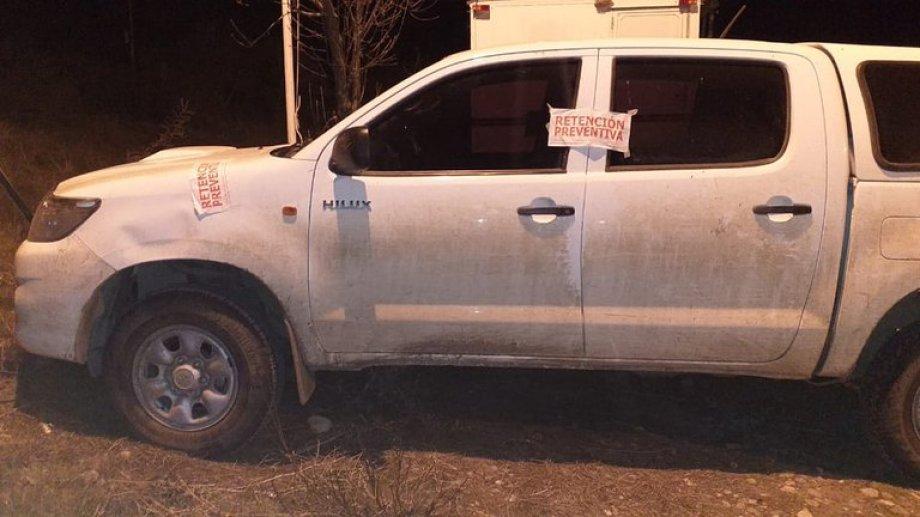La camioneta Toyota del INAI conducida por su vicepresidente Luis Pilquimán quedó secuestrada por unas horas. Foto gentileza