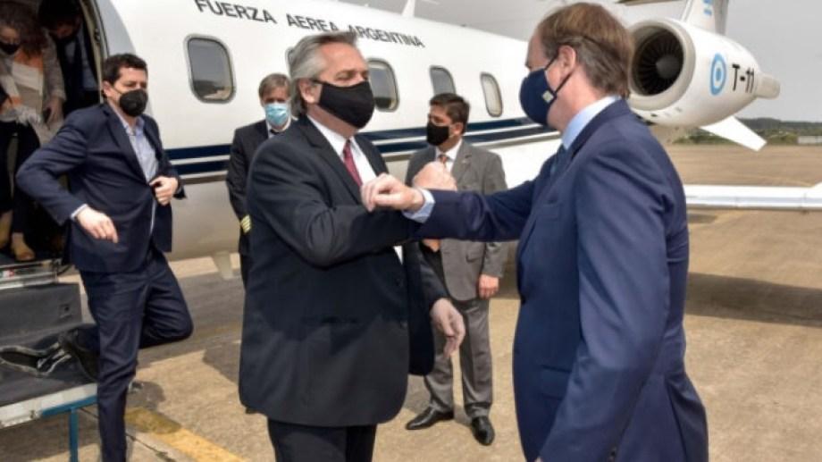 El presidente llegó en horas del mediodía a Paraná. Foto: gentileza El Diario de Entre Ríos.-