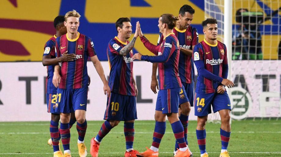 Messi marcó su primer gol en esta nueva edición de la Liga española. De penal, anotó el tercer tanto en la goleada del Barsa ante el Villarreal por 4-0.