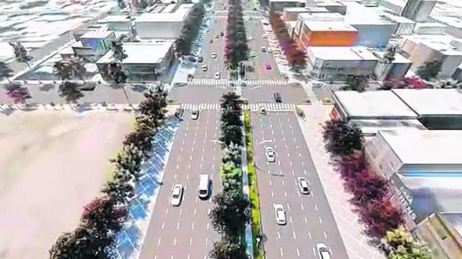 El nuevo diseño contará con cinco carriles por lado. En el medio se construirá una senda peatonal.