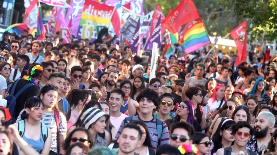 Marcha realizada en  diciembre de 2019, con la presencia de muchas juventudes y adolescencias.