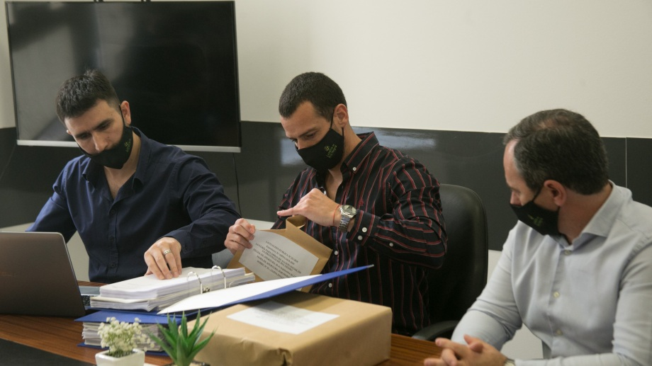 En la sede de Lotería se conocieron los antecedentes del único oferente. Foto: Pablo Leguizamón.