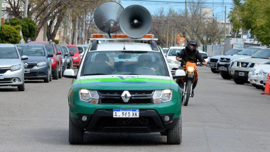 La restricción de la circulación en la capital rionegrina se iniciará a las 0 y se extenderá hasta las 6 de la mañana. Foto : Marcelo Ochoa